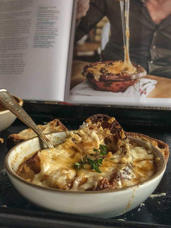 French Onion Soup made with Chicken Stock! Find the recipe on Shutterbean.com