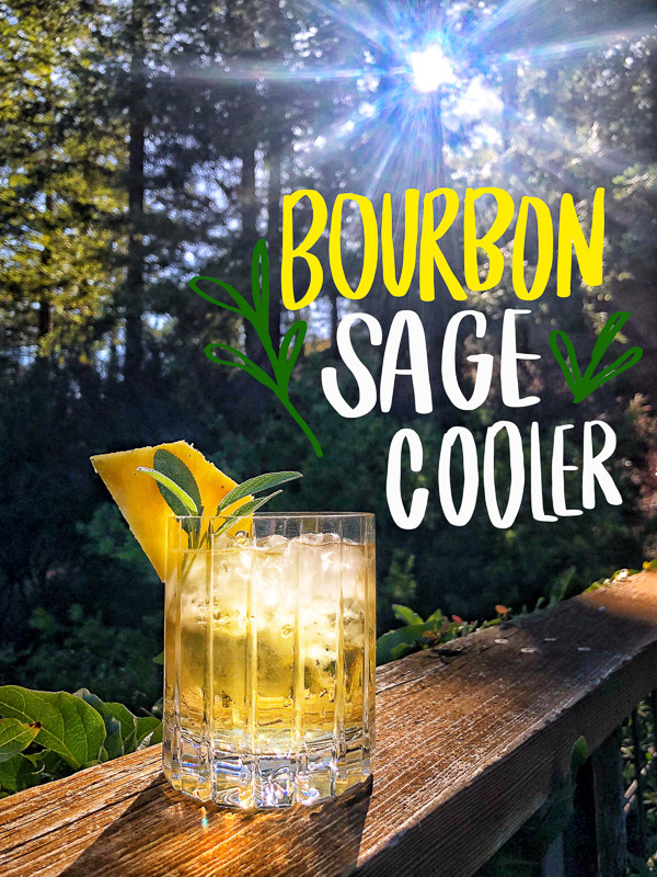 Bourbon Sage Cooler- a refreshing cocktail with just the right amount of sweetness. Find the recipe on Shutterbean.com in partnership with Nugget Markets!