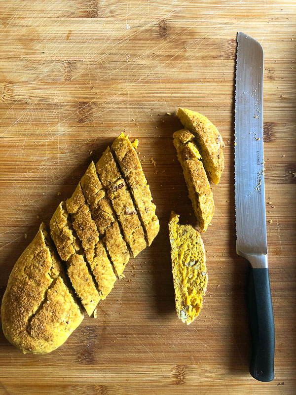 Celebrate Pumpkin season with Pumpkin Pecan Biscotti with your morning coffee! Recipe on Shutterbean.com