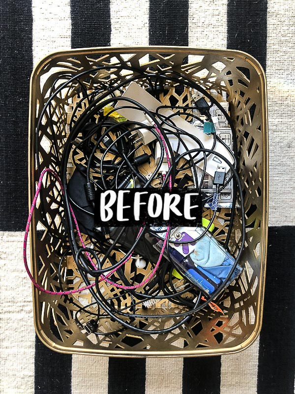 "Have you ever wondered, ""How Can I Keep my Cords Organized?"" Tracy from Shutterbean shows you how with her resourceful cord organization system!"