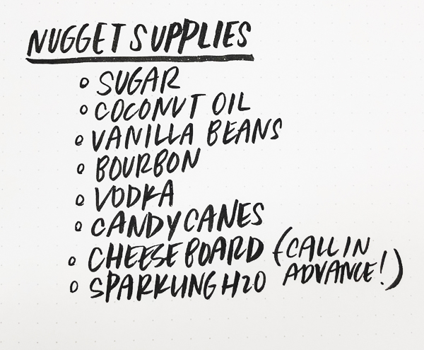 Host a Homemade Holiday Gift Party with the help of Nugget Markets! Find the recipes to sugar scrubs, infused vodka and vanilla extract on Shutterbean.com!