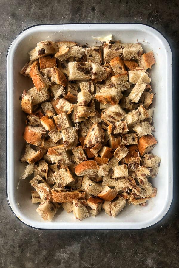 Got some leftover cinnamon raisin bread? Make Cinnamon Raisin Bread Pudding. Get the simple recipe on Shutterbean.com!
