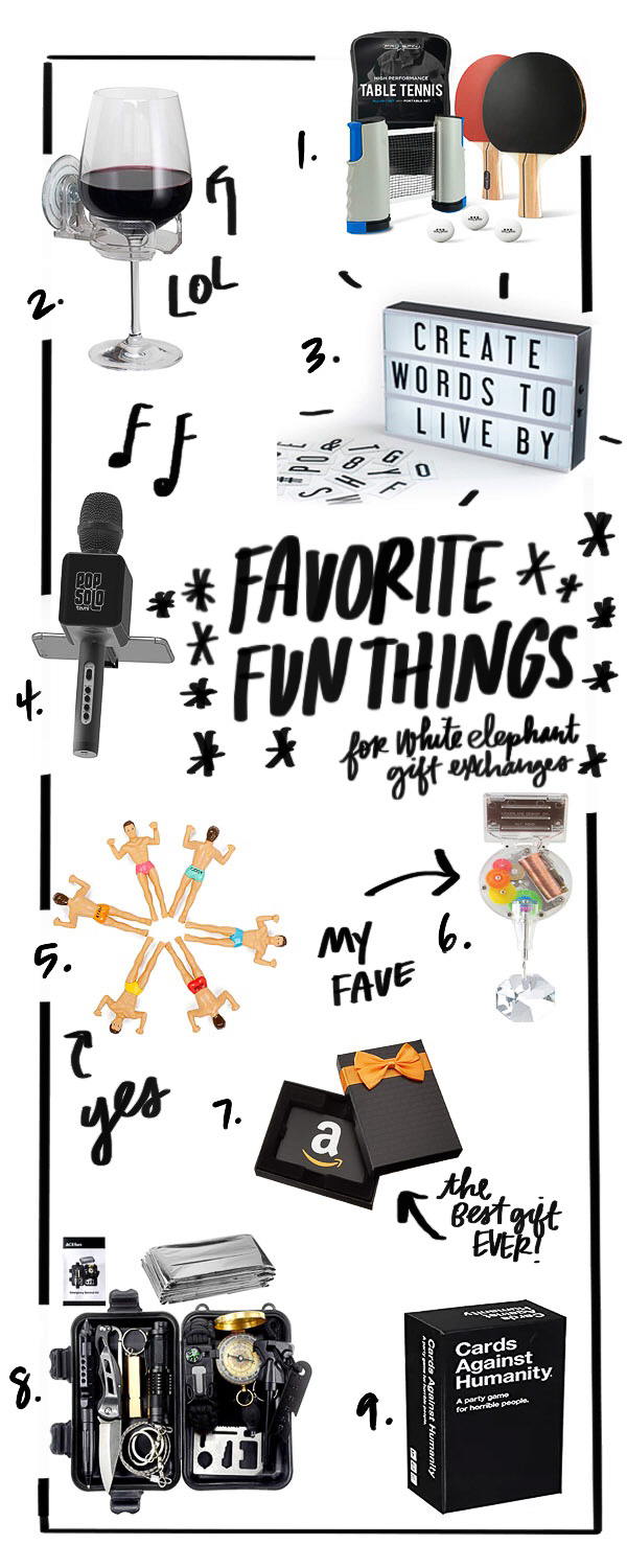Favorite Fun Things to Buy for your White Elephant gift exchange picked by Tracy from Shutterbean.com