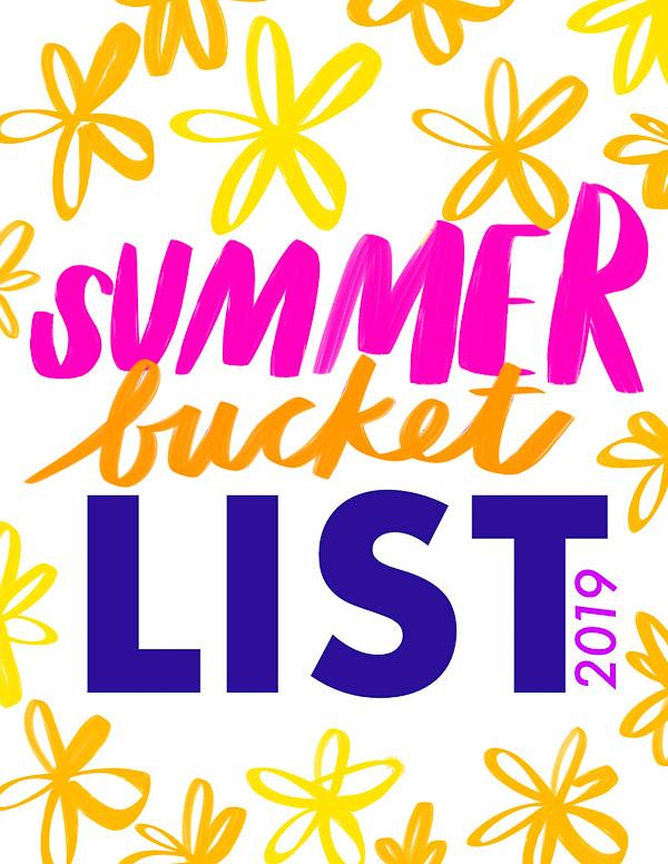 Shutterbean Summer Bucket List 2019