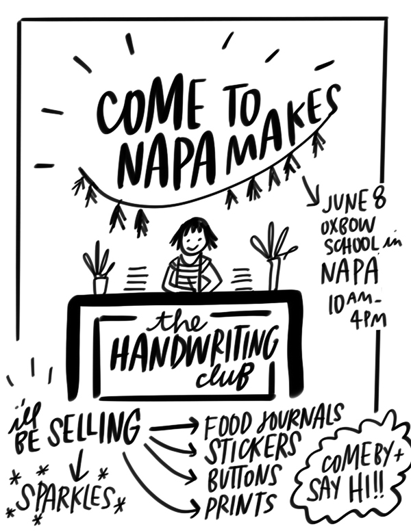 Come find me at Napa Makes this Saturday!