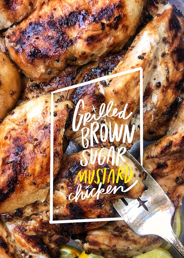 Shake up your grilled chicken game and make this Tangy Grilled Brown Sugar Mustard Chicken recipe! Find the instructions on Shutterbean.com!