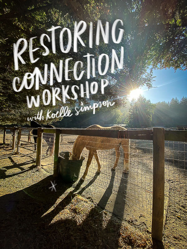 Restoring Connection Workshop with Koelle Simpson