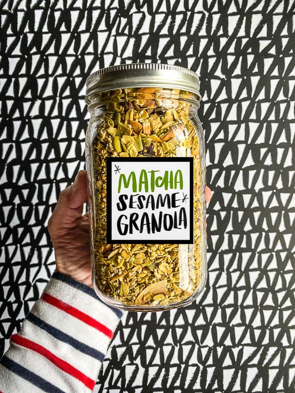 Matcha Sesame Granola