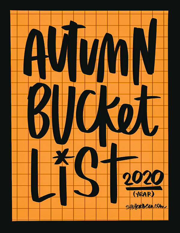 Autumn Bucket List 2020 (printable!)