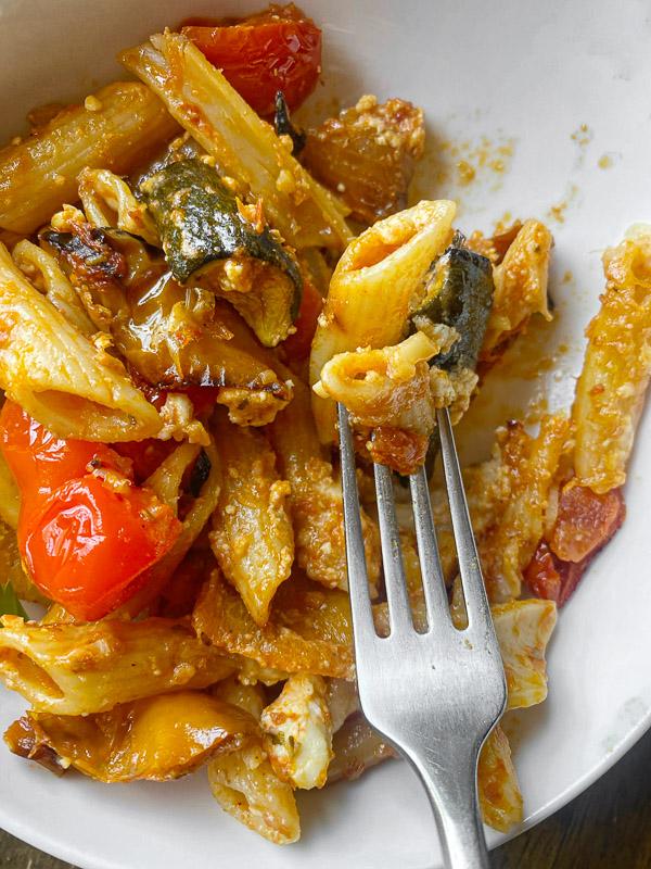 Roasted Vegetable Baked Penne // shutterbean