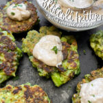 Broccoli Fritters with Chipotle Yogurt