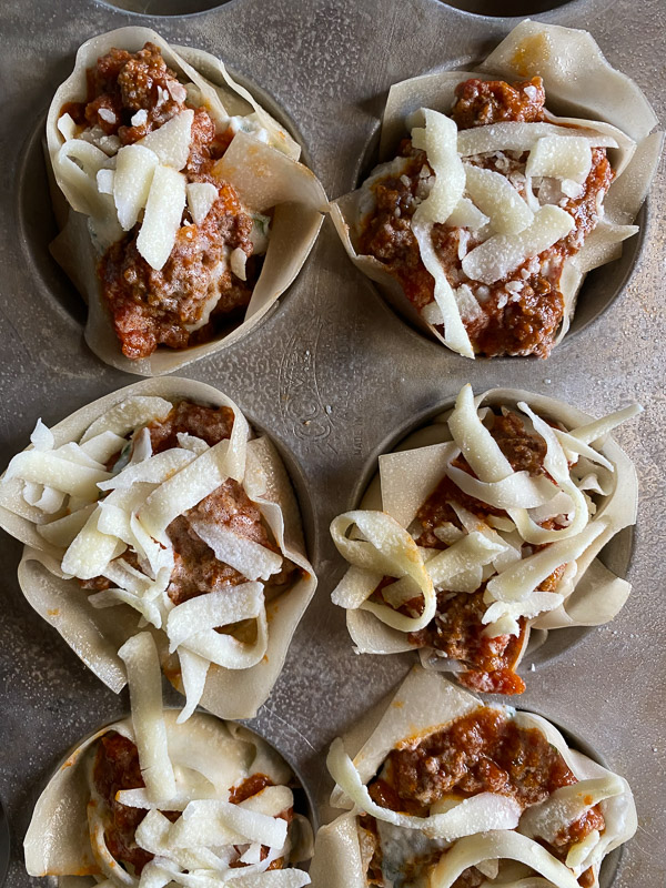 Lasagna Cups // recipe on Shutterbean.com