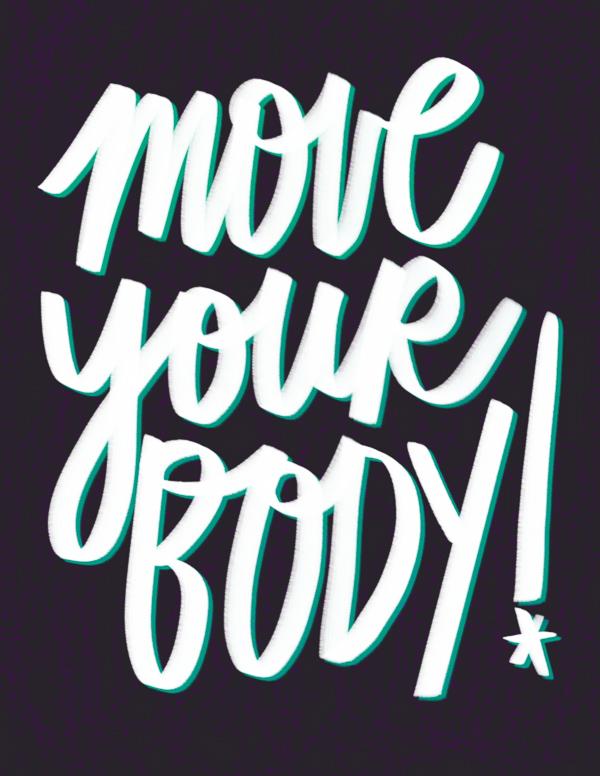 Move Your Body- I love lists // Shutterbean.com