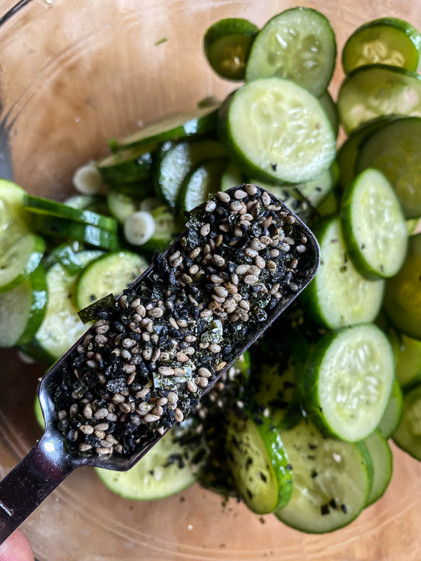 Cucumber Sesame Salad - find the recipe on Shutterbean.com