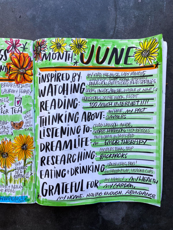 Currently June 2021- -Currently Workbook by Tracy Benjamin of Shutterbean.com
