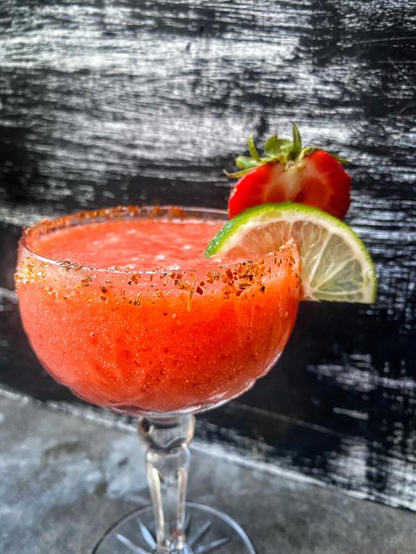 Spicy Strawberry Mango Margarita- Shutterbean.com