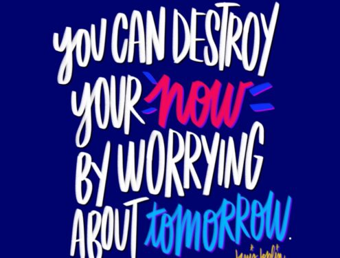 Stop Worrying! // I love lists artwork by Tracy Benjamin