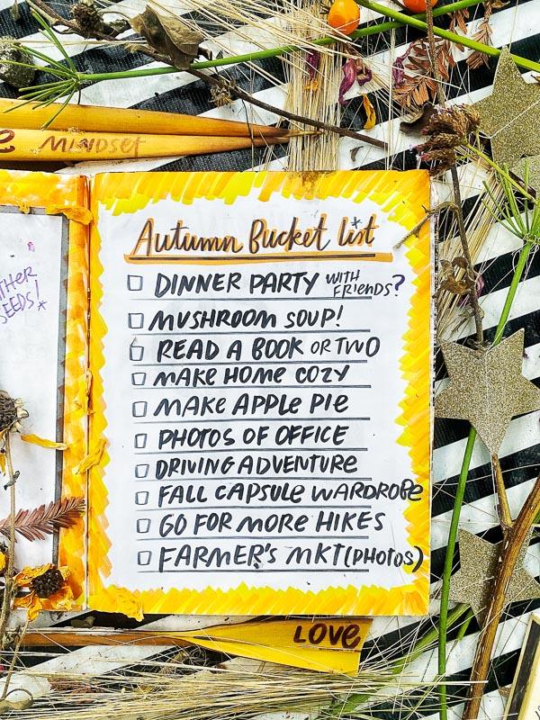 Autumn Bucket List 2021