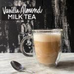 Vanilla Almond Milk Tea made with oatmilk & republic of tea's vanilla almond tea- Recipe on Shutterbean.com